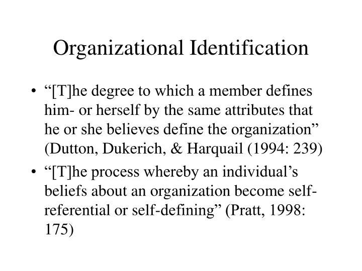 Organizational Identification