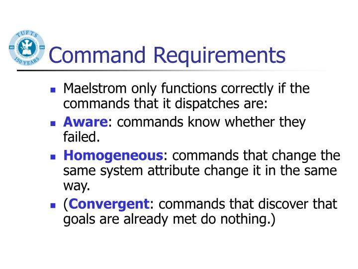 Command Requirements