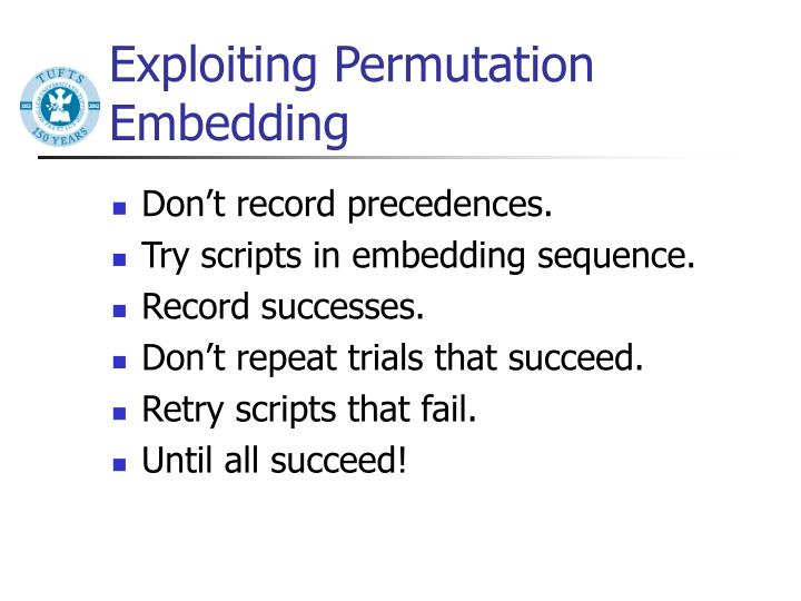 Exploiting Permutation Embedding