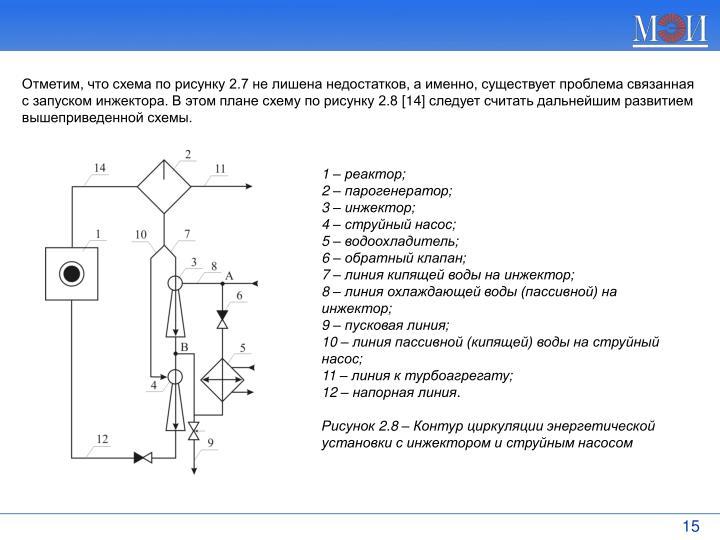 Отметим, что схема по рисунку 2.7 не лишена недостатков, а именно, существует проблема связанная с запуском инжектора. В этом плане схему по рисунку 2.8