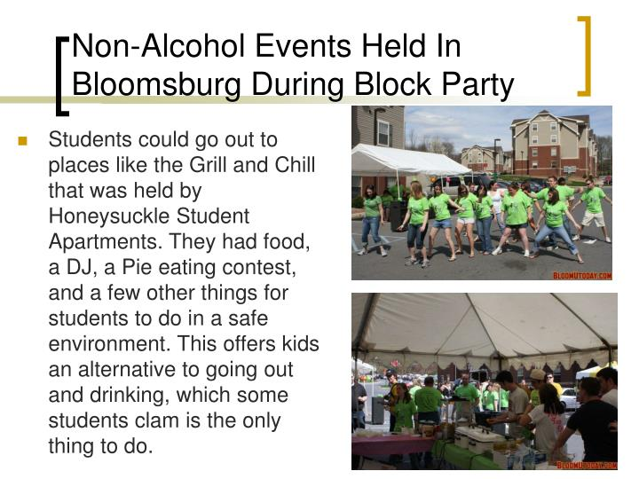Non-Alcohol Events Held In Bloomsburg During Block Party