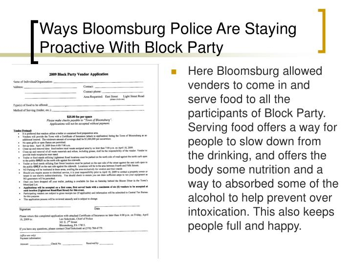 Ways Bloomsburg Police Are Staying Proactive With Block Party