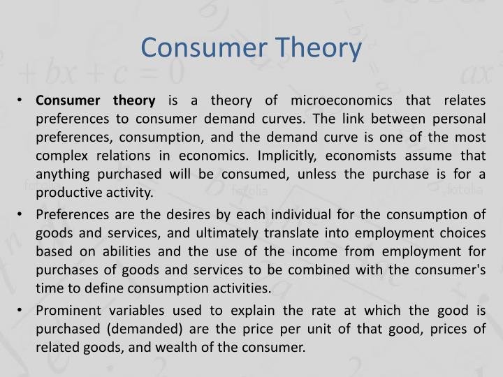 Consumer Theory