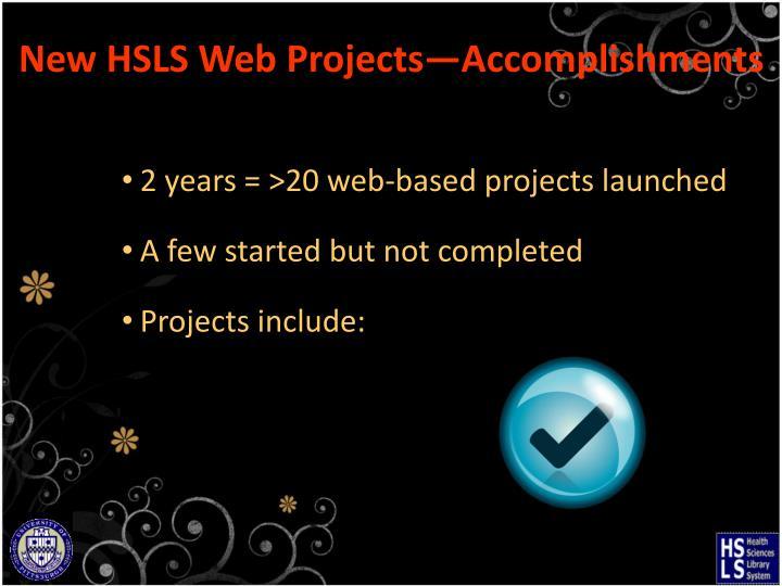 New HSLS Web
