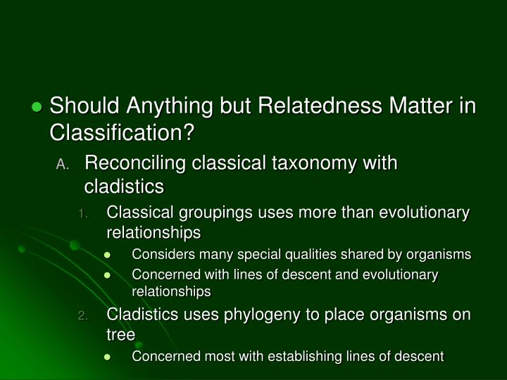 Should Anything but Relatedness Matter in Classification?