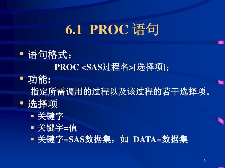 6.1  PROC