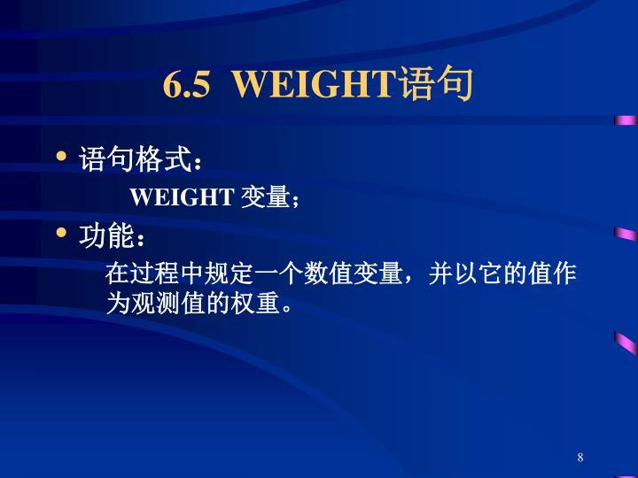 6.5  WEIGHT