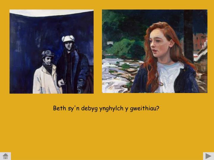 Beth sy'n debyg ynghylch y gweithiau?
