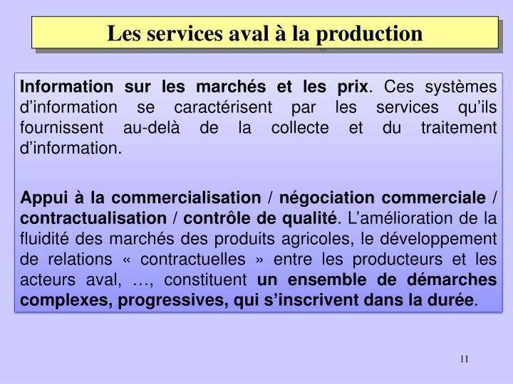 Les services aval à la production