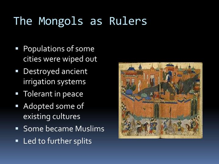 The Mongols as Rulers