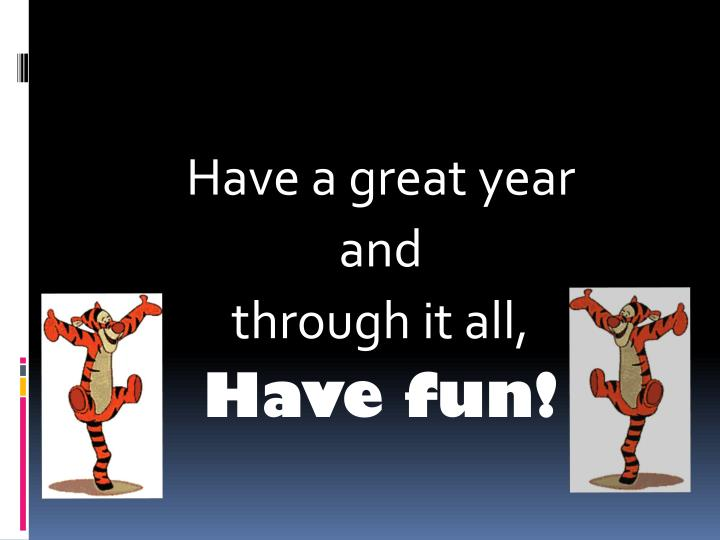 Have a great year