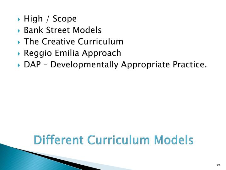 Different Curriculum Models