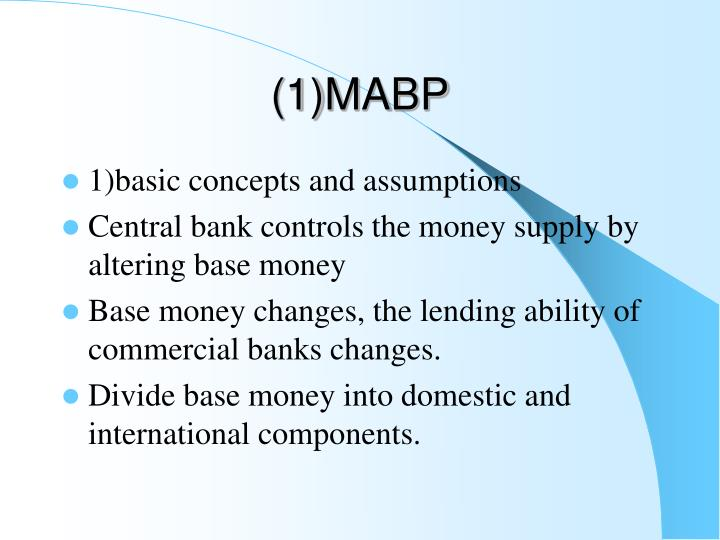 (1)MABP