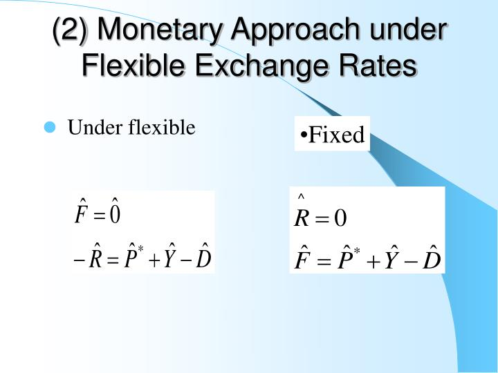 (2) Monetary Approach under Flexible Exchange Rates