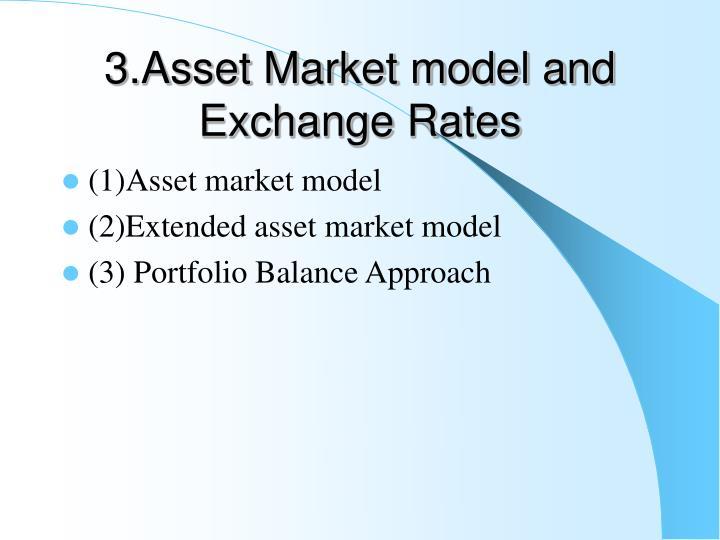 3.Asset Market model and Exchange Rates
