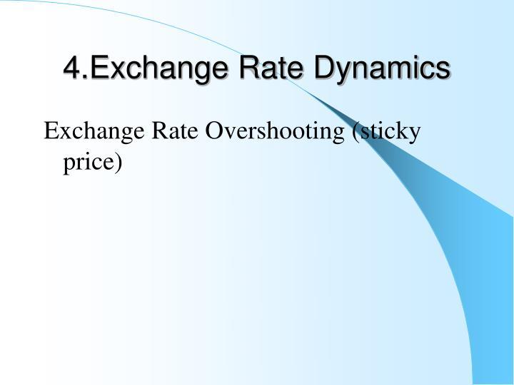 4.Exchange Rate Dynamics