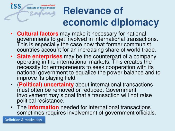 Relevance of economic diplomacy