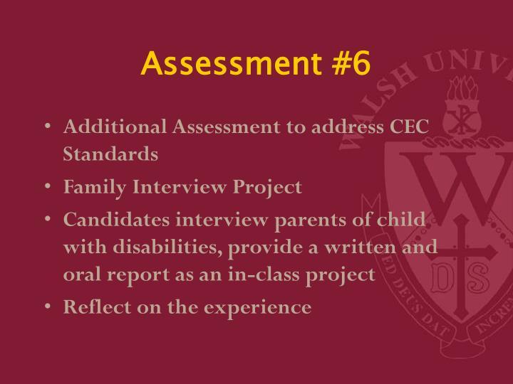 Assessment #6