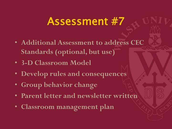 Assessment #7