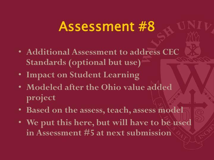 Assessment #8