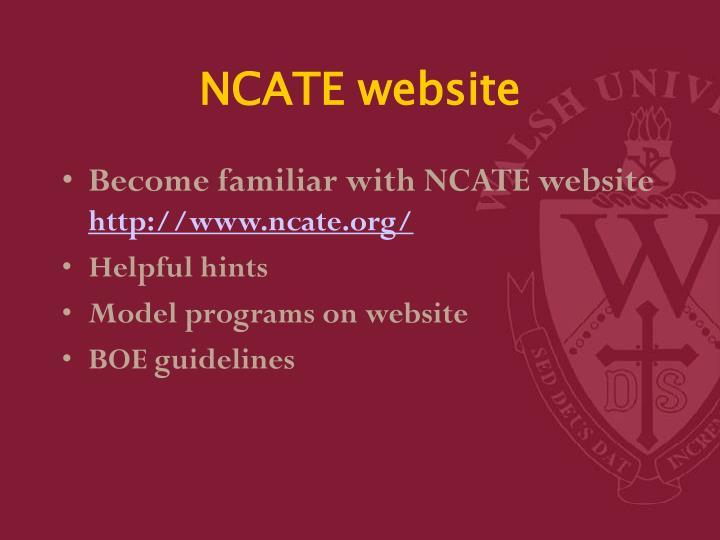 NCATE website