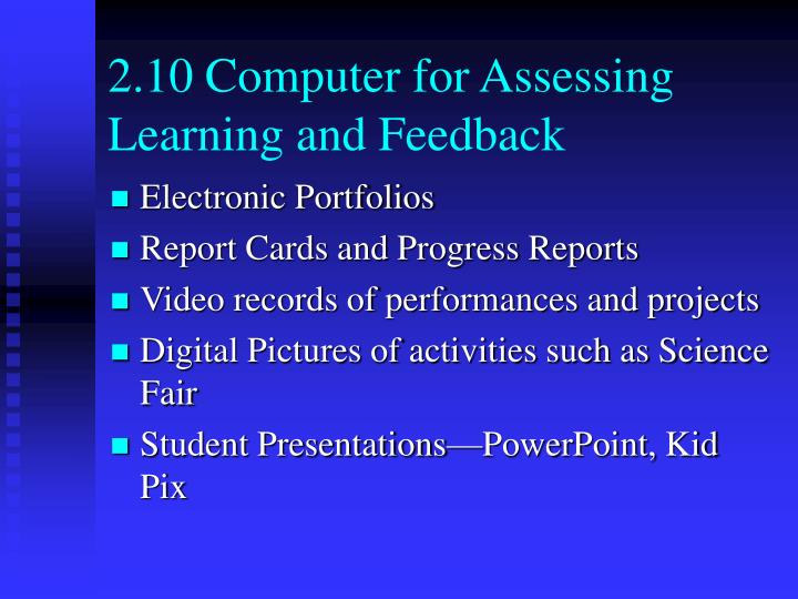 2.10 Computer for Assessing Learning and Feedback