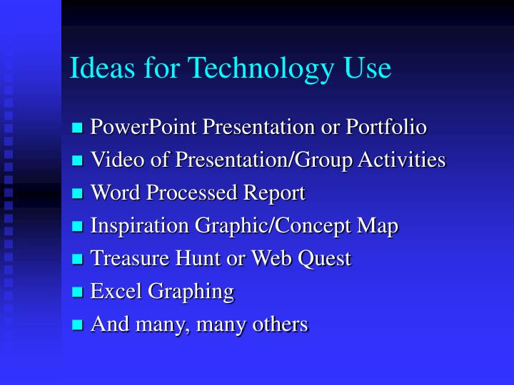 Ideas for Technology Use