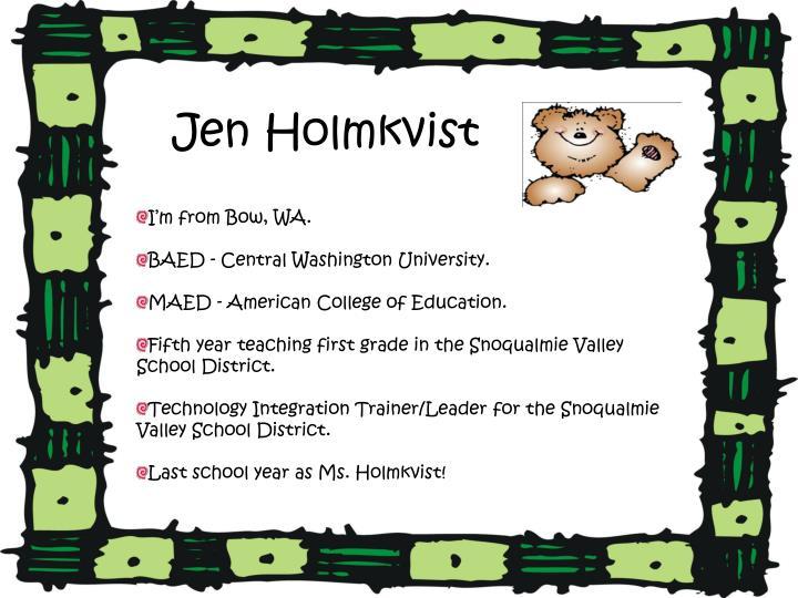 Jen Holmkvist
