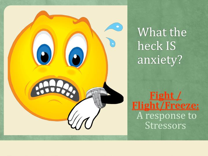 What the heck IS anxiety?