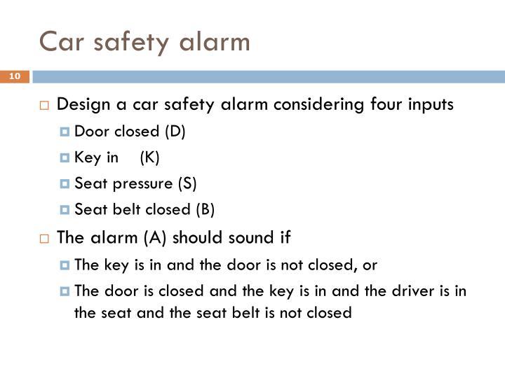 Car safety alarm