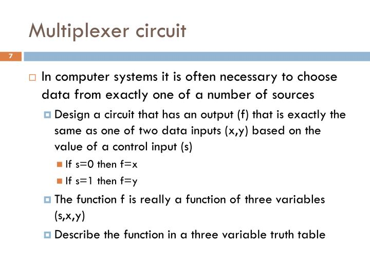 Multiplexer circuit