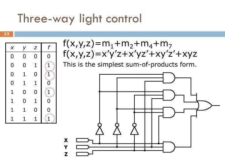 Three-way light control