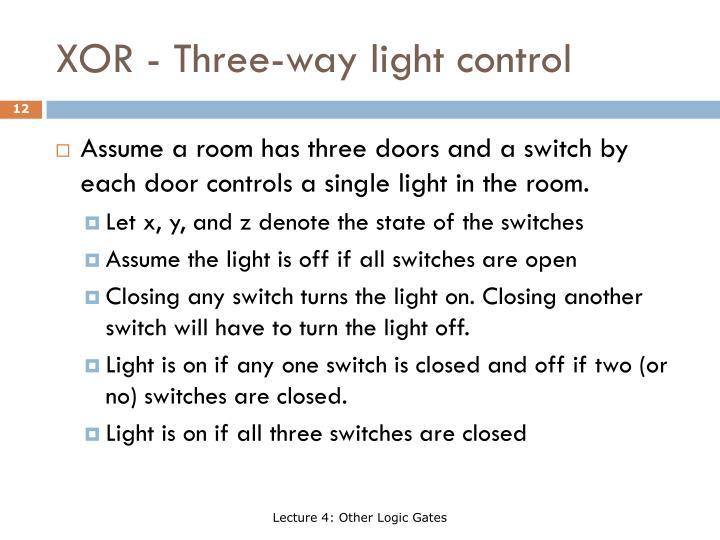 XOR - Three-way light control