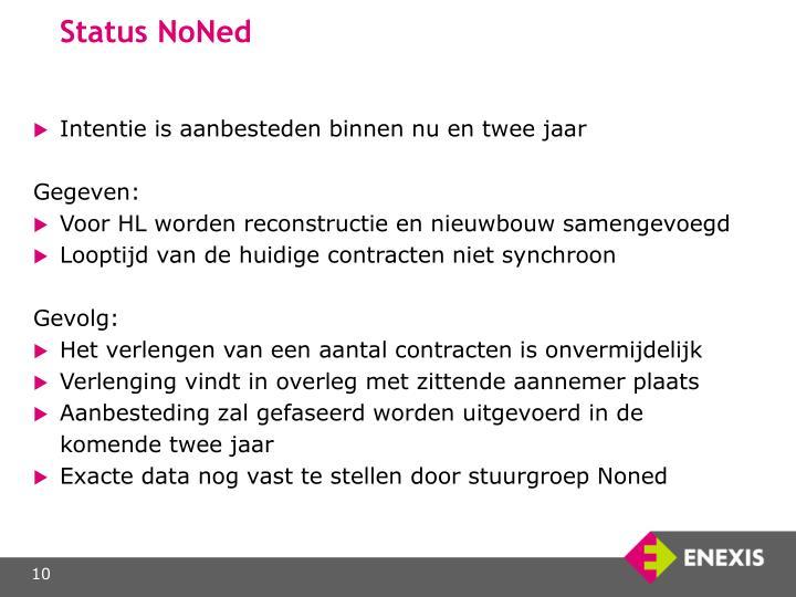 Status NoNed