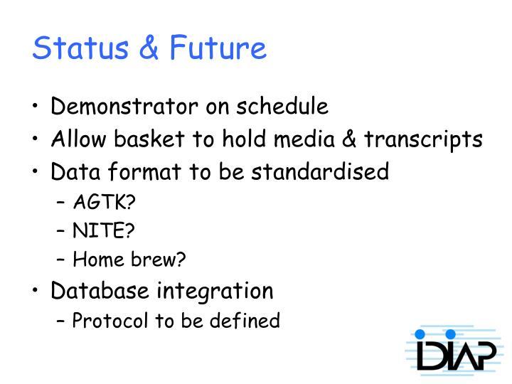 Status & Future