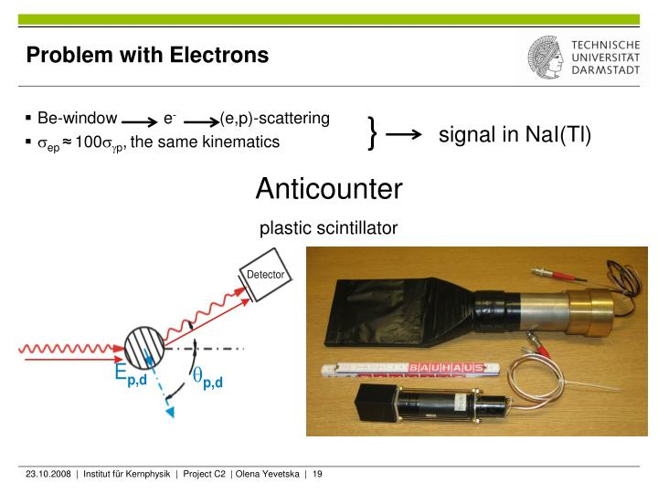 Problem with Electrons