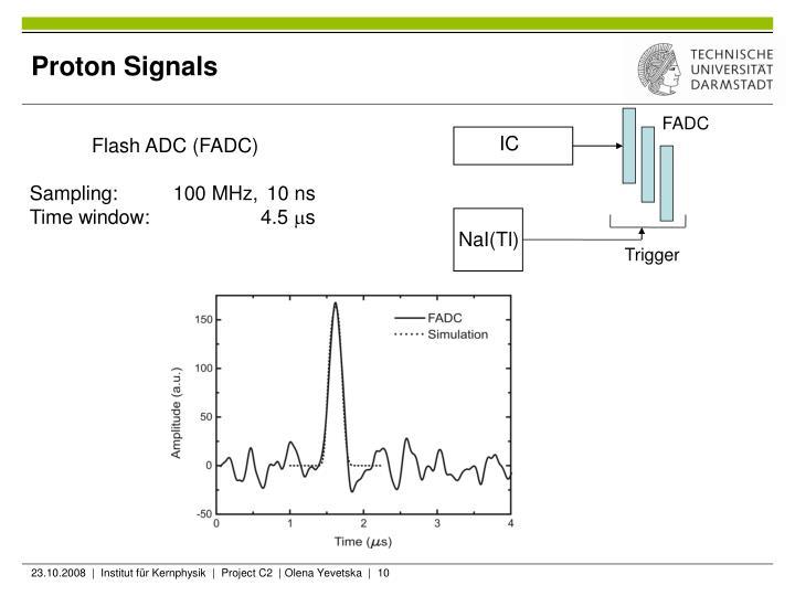 Proton Signals