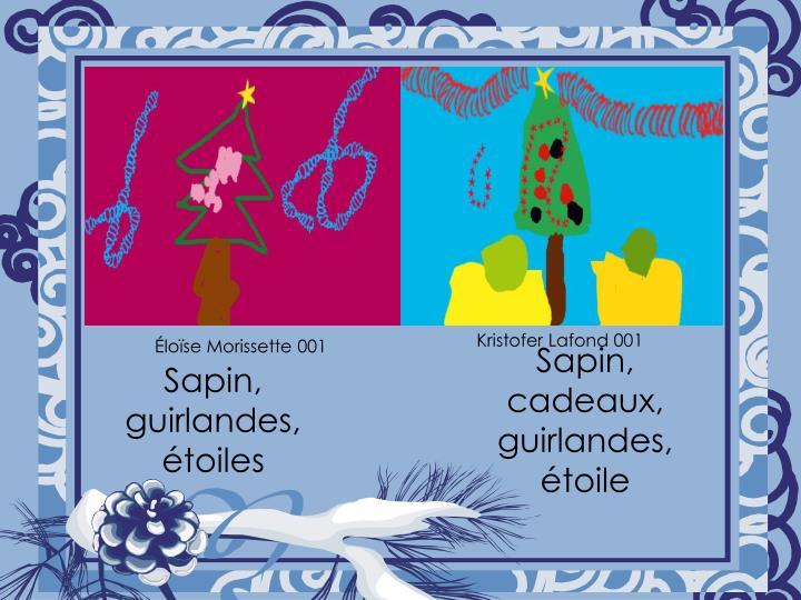 Sapin, guirlandes, étoiles