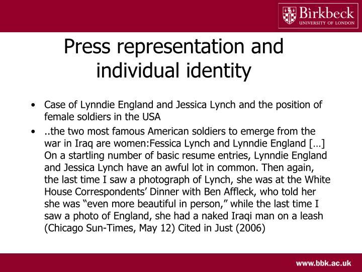 Press representation and individual identity