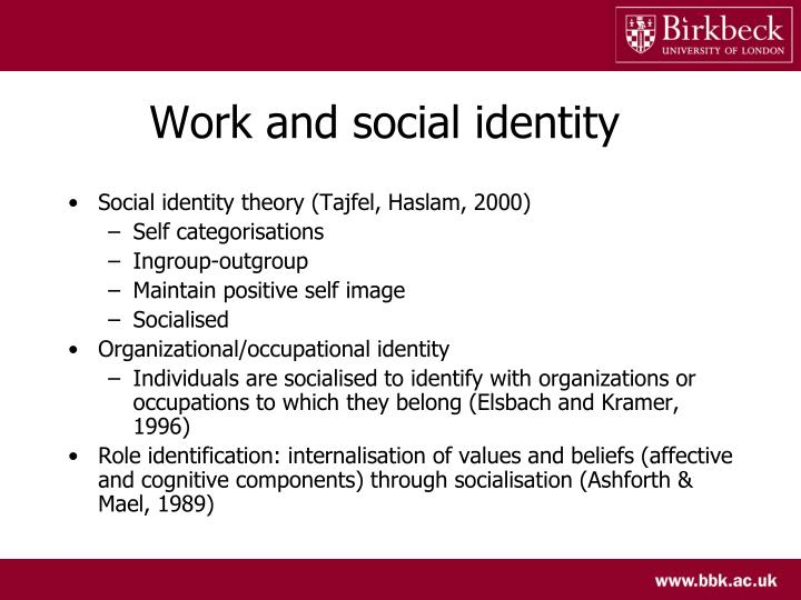 Work and social identity