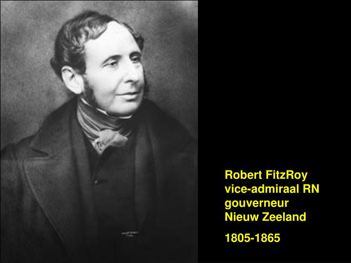 Robert FitzRoy vice-admiraal RN gouverneur Nieuw Zeeland