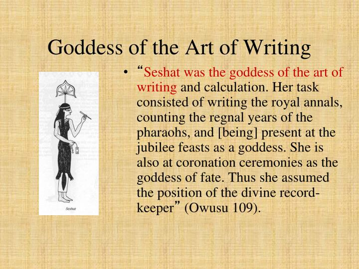 Goddess of the Art of Writing