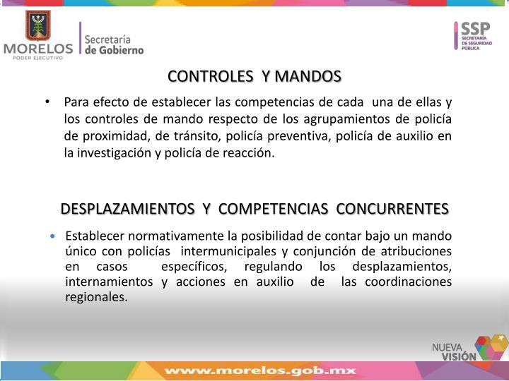 CONTROLES  Y MANDOS