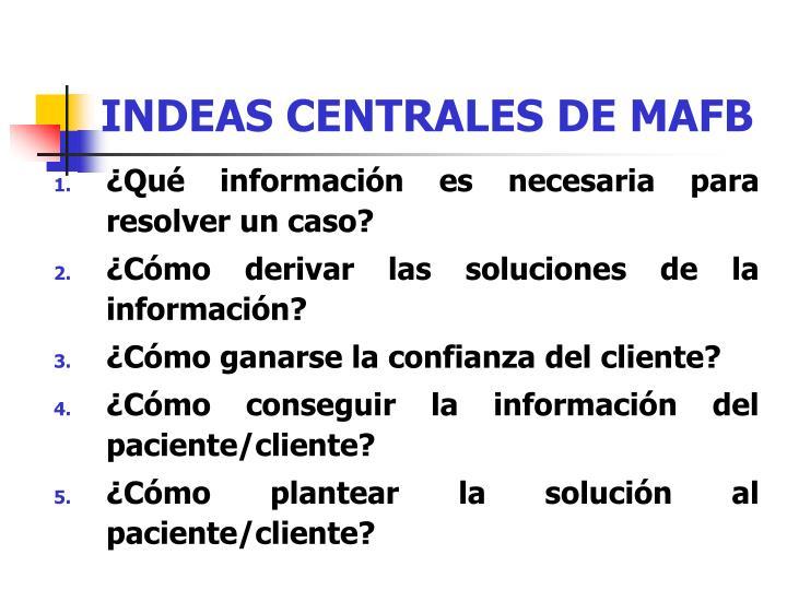 INDEAS CENTRALES DE MAFB