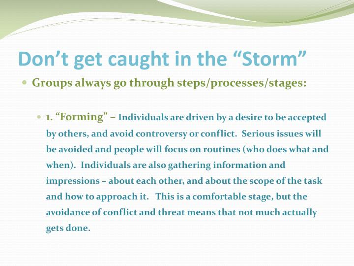 "Don't get caught in the ""Storm"""
