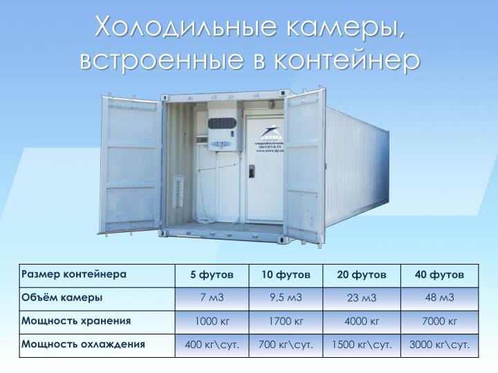 Холодильные камеры,