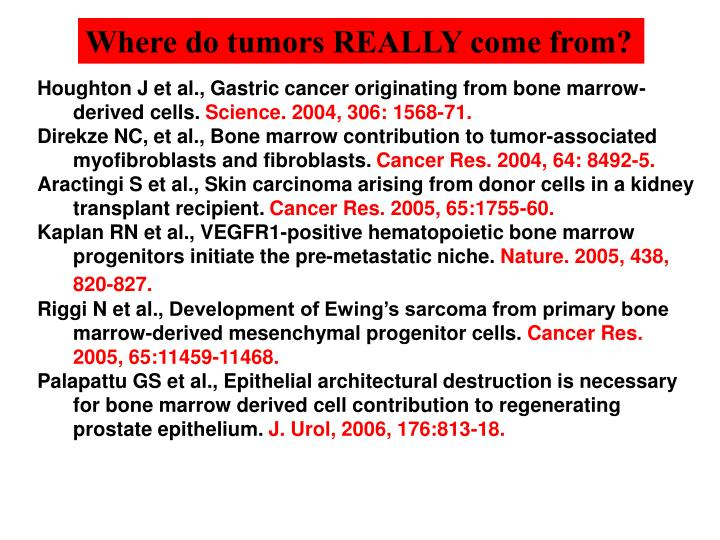 Where do tumors REALLY come from?
