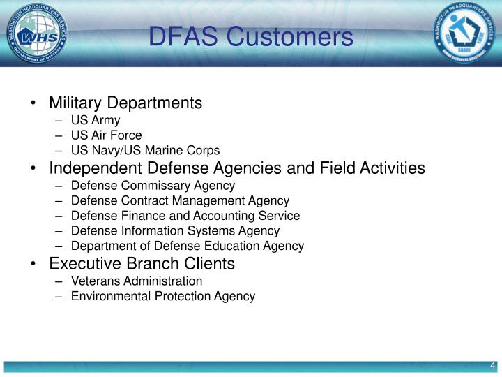 DFAS Customers