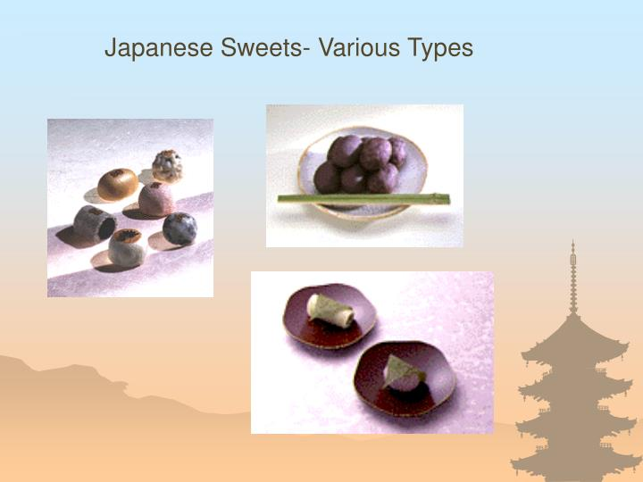 Japanese Sweets- Various Types