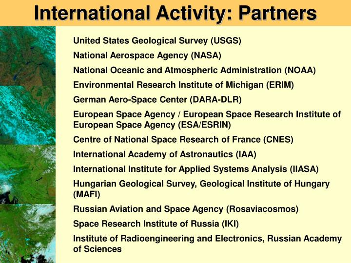 International Activity: Partners